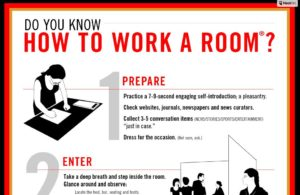 Susan Roane - How to Work a Room poster - Career Success Strategies for new graduates